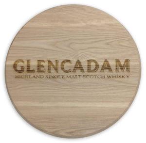 Glencadam Oak Barrel Head Laser Etched Logo
