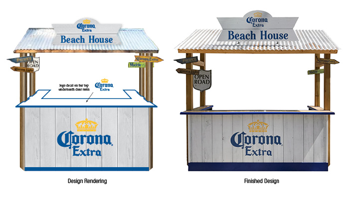 Corona Extra Beach House Portable Bar